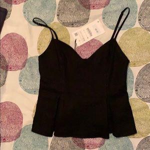 Zara linen top.